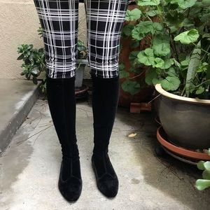 Vintage black Giorgio Armani velvet boots